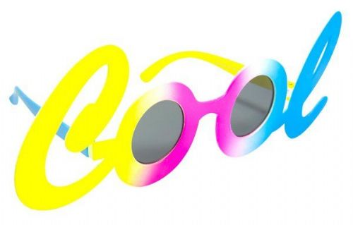 Party Glasses Mr COOL in Letters 60s 70s Mod Rock n Roll